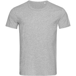 textil Herre T-shirts m. korte ærmer Stedman Stars Stars Heather Grey