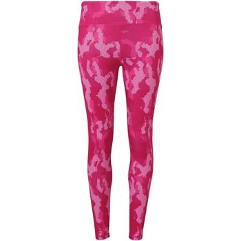 textil Dame Leggings Tridri TR032 Camo Hot Pink