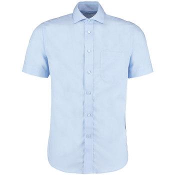 textil Herre Skjorter m. korte ærmer Kustom Kit KK115 Light Blue