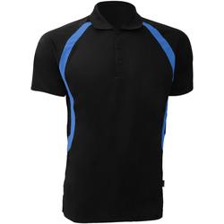 textil Herre Polo-t-shirts m. korte ærmer Gamegear Riviera Black/Electric Blue