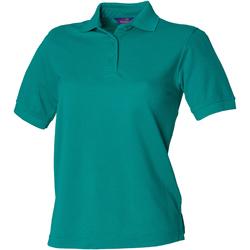 textil Dame Polo-t-shirts m. korte ærmer Henbury HB401 Jade