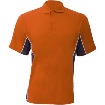 textil Herre Polo-t-shirts m. korte ærmer Gamegear KK475 Orange/Graphite/White