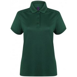 textil Dame Polo-t-shirts m. korte ærmer Henbury HB461 Bottle