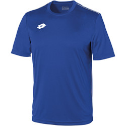 textil Børn T-shirts m. korte ærmer Lotto LT26B Royal/White