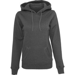 textil Dame Sweatshirts Build Your Brand BY026 Charcoal