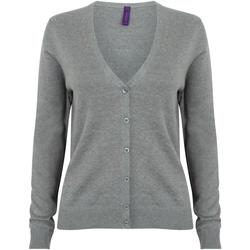 textil Dame Veste / Cardigans Henbury HB726 Slate Grey Marl