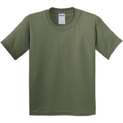 textil Børn T-shirts m. korte ærmer Gildan 5000B Military Green