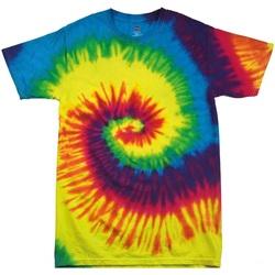 textil Børn T-shirts m. korte ærmer Colortone TD02B Rainbow