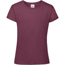 textil Pige T-shirts m. korte ærmer Fruit Of The Loom 61017 Burgundy