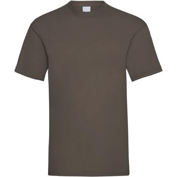 textil Herre T-shirts m. korte ærmer Universal Textiles 61036 Dark Brown