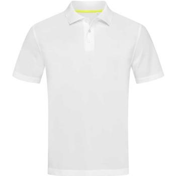 textil Herre Polo-t-shirts m. korte ærmer Stedman  White