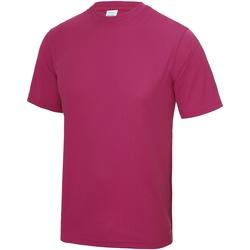 textil Herre T-shirts m. korte ærmer Awdis JC001 Hot Pink
