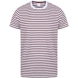 textil T-shirts m. korte ærmer Skinni Fit SF202 White/Burgundy