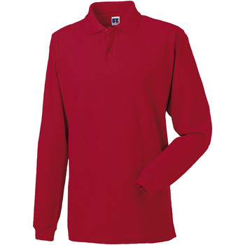 textil Herre Polo-t-shirts m. lange ærmer Russell 569M Classic Red
