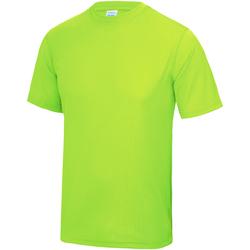 textil Børn T-shirts m. korte ærmer Awdis JC01J Electric Green