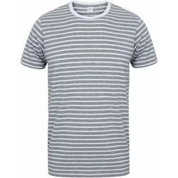 textil T-shirts m. korte ærmer Skinni Fit SF202 Heather Grey/White