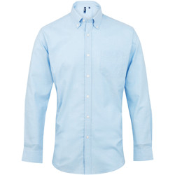 textil Herre Skjorter m. lange ærmer Premier PR234 Light Blue