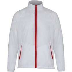 textil Herre Vindjakker 2786  White/ Red