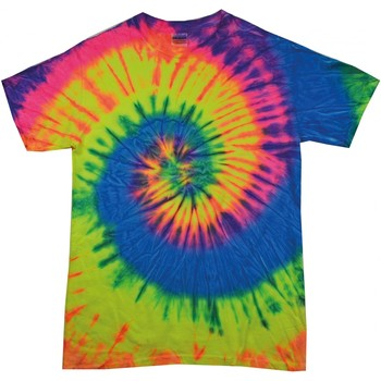 textil Dame T-shirts m. korte ærmer Colortone Rainbow Neon Rainbow