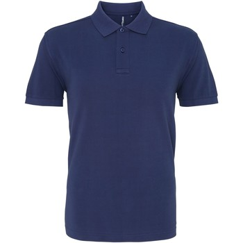textil Herre Polo-t-shirts m. korte ærmer Asquith & Fox AQ010 Denim