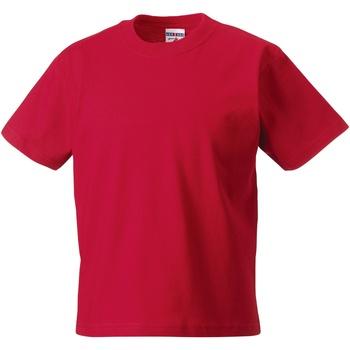 textil Børn T-shirts m. korte ærmer Jerzees Schoolgear ZT180B Classic Red