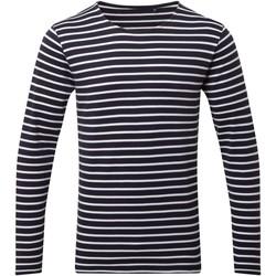 textil Herre Langærmede T-shirts Asquith & Fox AQ070 Navy/White
