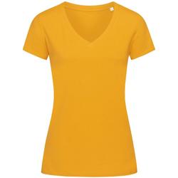 textil Dame T-shirts m. korte ærmer Stedman Stars Janet Indian Yellow