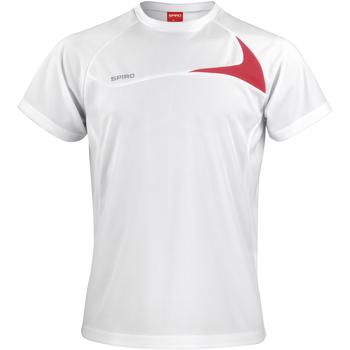 textil Herre T-shirts m. korte ærmer Spiro S182M White/Red