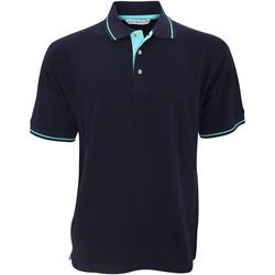 textil Herre Polo-t-shirts m. korte ærmer Kustom Kit KK606 Navy/Light Blue