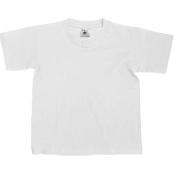 textil Børn T-shirts m. korte ærmer B And C Exact White