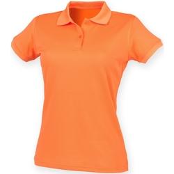 textil Dame Polo-t-shirts m. korte ærmer Henbury Coolplus Burnt Orange