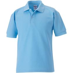 textil Dreng Polo-t-shirts m. korte ærmer Jerzees Schoolgear 539B Sky Blue