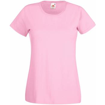 textil Dame T-shirts m. korte ærmer Universal Textiles 61372 Pastel Pink