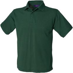 textil Herre Polo-t-shirts m. korte ærmer Henbury HB400 Bottle Green