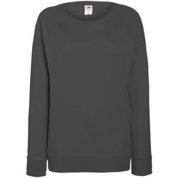 textil Dame Sweatshirts Fruit Of The Loom 62146 Light Graphite