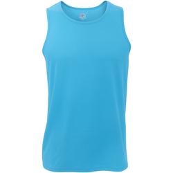 textil Herre Toppe / T-shirts uden ærmer Fruit Of The Loom 61416 Azure Blue
