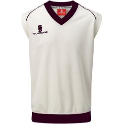 textil Herre Toppe / T-shirts uden ærmer Surridge SU012 White/ Maroon Trim