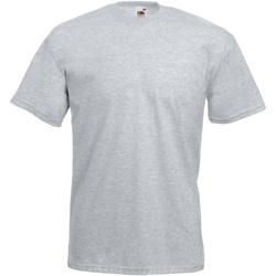 textil Herre T-shirts m. korte ærmer Fruit Of The Loom 61036 Heather Grey