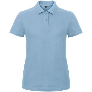 textil Dame Polo-t-shirts m. korte ærmer B And C ID.001 Light Blue
