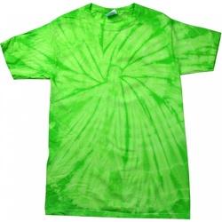 textil T-shirts m. korte ærmer Colortone Tonal Spider Lime