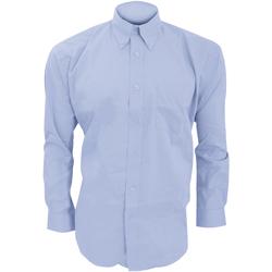 textil Herre Skjorter m. lange ærmer Kustom Kit KK105 Light Blue