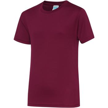 textil Børn T-shirts m. korte ærmer Awdis JC01J Burgundy
