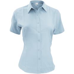 textil Herre Skjorter m. korte ærmer Henbury HB596 Light Blue