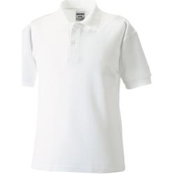 textil Dreng Polo-t-shirts m. korte ærmer Jerzees Schoolgear 539B White