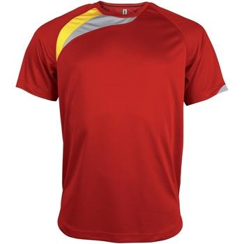 textil Herre T-shirts m. korte ærmer Kariban Proact PA436 Red/ Black/ Storm Grey