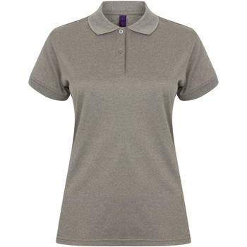 textil Dame Polo-t-shirts m. korte ærmer Henbury Coolplus Heather Grey