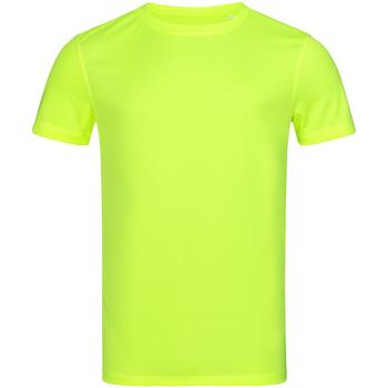 textil Herre T-shirts m. korte ærmer Stedman Mesh Cyber Yellow