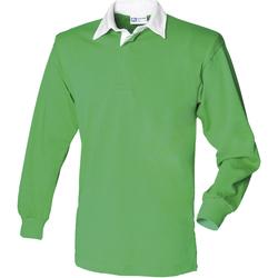 textil Herre Polo-t-shirts m. lange ærmer Front Row FR100 Bright Green/White