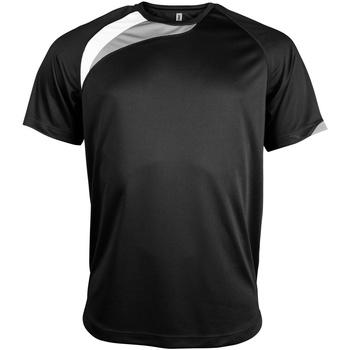 textil Herre T-shirts m. korte ærmer Kariban Proact PA436 Black/ White/ Storm Grey