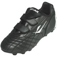 Sko Dreng Fodboldstøvler Mirak Forward Velcro Moulded Black/Silver